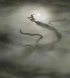 flyoff de 4 bruxas Imagem de Stock