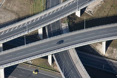Flyover. Aerial photo of a motorway flyover Royalty Free Stock Photography