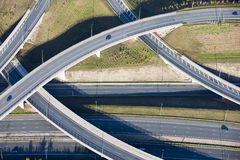 Flyover. Aerial photo of a motorway flyover Stock Photo