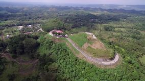 Flyover aerial view of Chocolate hills. Bohol, Philippines. Flyover aerial view of Chocolate hills. Bohol, Philippines stock video footage