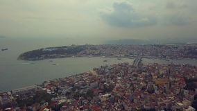 Flyover Istanbul Turkey. Flyover the bosphorus in istnabul turkey during the fall stock footage