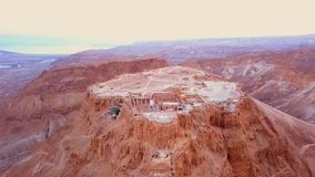 Flyover of the desert by the dead sea Stock Images