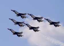 Flyover di Thunderbird Fotografia Stock