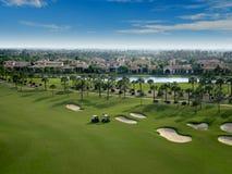 Flyover do campo de golfe de Florida Foto de Stock Royalty Free