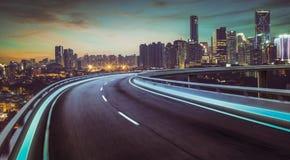 flyover effekt för hastighet för rörelsesuddighet arkivfoto