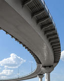 Flyover. High overpass on the sky background Royalty Free Stock Image