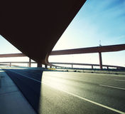 Flyover on highway coming in and going out. Royalty Free Stock Photo