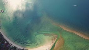 Flyover of an island. In Samui Thailand stock video