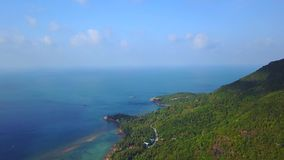 Flyover of an island in Thailand. Flyover of an island in Samui Thailand stock footage