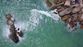 Flyover of an island in Thailand. Flyover of an island in Samui Thailand stock video