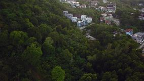 Flyover of an island town in Thailand. Flyover of an island town in Samui Thailand stock video