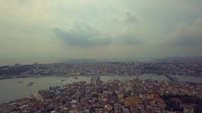 Flyover Istanbul Turkey. Flyover the bosphorus in istnabul turkey during the fall stock video