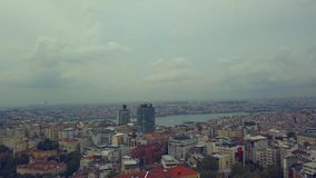 Flyover Istanbul Turkey. Flyover the bosphorus in istnabul turkey during the fall stock video footage