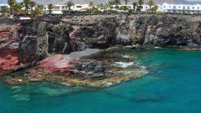 Flyover między Costa De Papagayo i Playa Blanca zbiory