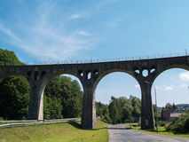A flyover over a busy road Lewin Klodzki, Poland Royalty Free Stock Photography