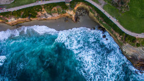 Flyover of the Pacific Ocean Royalty Free Stock Photo