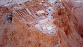 Flyover pustynia nieżywym morzem Zdjęcie Stock
