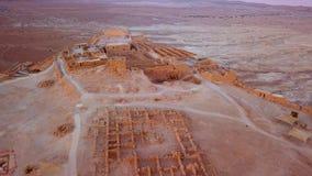 Flyover pustynia nieżywym morzem Obraz Royalty Free