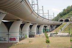 Flyover railway bridge Stock Images