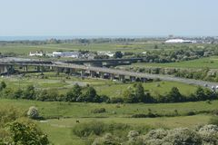 A27 flyover at Shoreham. Sussex. England Royalty Free Stock Image
