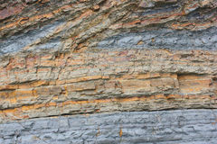 Flysch cliff rocks - close view Stock Photos