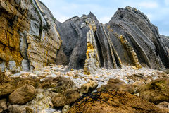 Flysch detail Stock Image