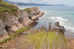 Flysch of Zumaia Royalty Free Stock Photography