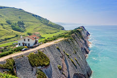 Flysch in Zumaia coatline Royalty Free Stock Photography