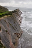 Flysch in Zumaia, Gipuzkoa, Basque Country, Spain Royalty Free Stock Photography