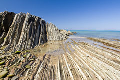 Flysch of Zumaia, Spain Royalty Free Stock Photography