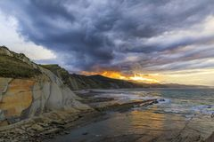 The Flysch in Zumaia Stock Photography