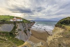 The Flysch in Zumaia Royalty Free Stock Images