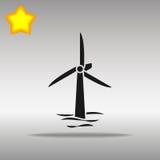 Flytande vindturbiner Stock Illustrationer