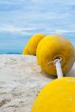 Flytförmåga på stranden Royaltyfria Bilder