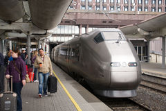 FlyToget train at Oslo railway station Stock Photo
