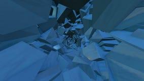 Flytrough geometric warp tunnel stock video