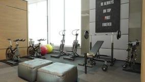 Flytrough intérieur de pièce de sport banque de vidéos
