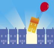 flytta sig för 01 hus Arkivbild