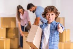 flytta sig för familjutgångspunkt arkivbild