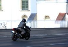 flytta sig för motorcykel Royaltyfri Bild