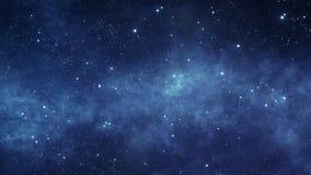 Flytta sig till och med det stjärn- utrymmet vektor illustrationer