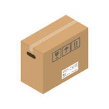 Flytta vektorillustrationen för den tjänste- asken Arkivbilder