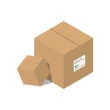 Flytta vektorillustrationen för den tjänste- asken Royaltyfri Fotografi