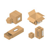 Flytta vektorillustrationen för den tjänste- asken Fotografering för Bildbyråer