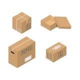 Flytta vektorillustrationen för den tjänste- asken Arkivbild