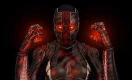 flyttad fram cyborgsoldat Arkivfoto