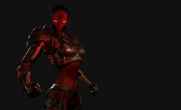flyttad fram cyborgsoldat Arkivfoton