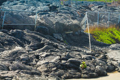 Flyttande fram lavaflöde arkivbild