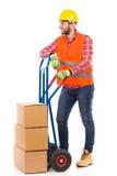 Flyttkarl och leveransvagn Arkivbild
