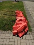 Flytvästar livPreservers Royaltyfri Foto